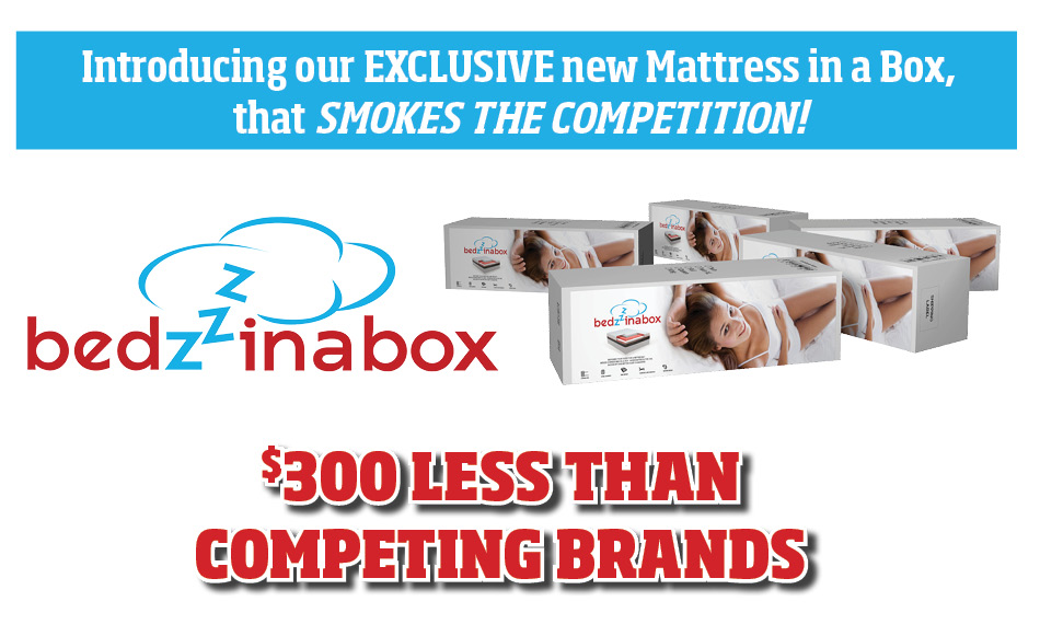 bedzzz in a box $300 less than competitors