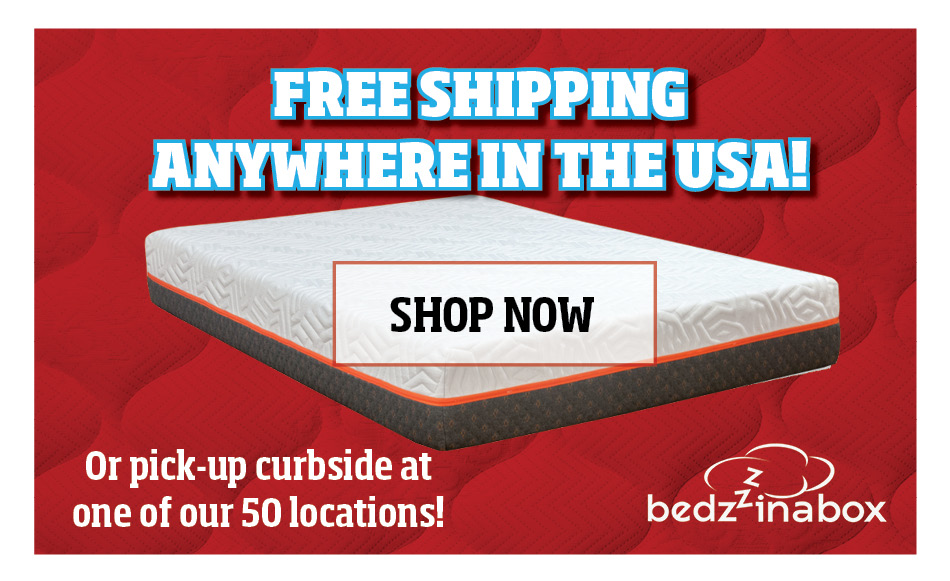 Bedzzz in a box free shipping click to shop now