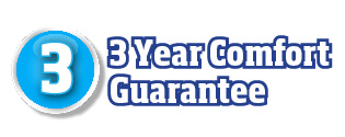 3 year comfort guarantee